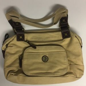 Giani Bernini Canvas Shoulder Bag Zippered Purse